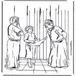 Kolorowanki Biblijne - 12-letni Jezus