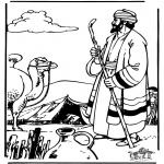 Kolorowanki Biblijne - Abraham i Sara