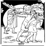 Kolorowanki Biblijne - Adam i Ewa