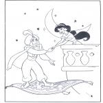 Bohaterowie Z Bajek - Alladyn na latającym dywanie