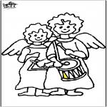 Boze Narodzenie - Anioły z bębnem