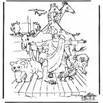 Kolorowanki Biblijne - Arka Noego 3