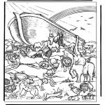 Kolorowanki Biblijne - Arka Noego 4