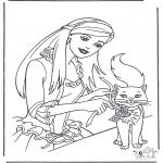 Bohaterowie Z Bajek - Barbie i Kot