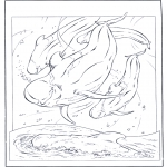 Zwierzęta - Biały delfin