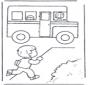 Bieg do szkolnego autobusu