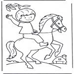 Zwierzęta - Chłopiec na koniu