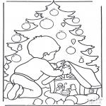 Boze Narodzenie - Chłopiec przy Choince