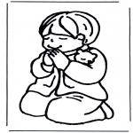 Kolorowanki Biblijne - Chłopiec się modli