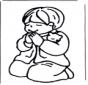 Chłopiec się modli