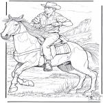Zwierzęta - Cowboy z Koniem