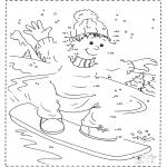 Zima - Cyfrowy Rysunek Snowboard