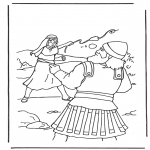 Kolorowanki Biblijne - Dawid i Goliat 2
