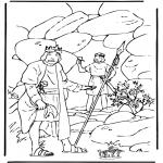 Kolorowanki Biblijne - Dawid i Saul