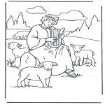 Kolorowanki Biblijne - Dawid pasterz