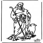 Kolorowanki Biblijne - Dobry Pasterz 4