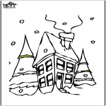 Zima - Dom w śniegu 2