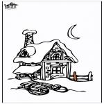 Zima - Dom w śniegu 3