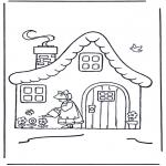 Przedszkolaki - domek z kwiatkami