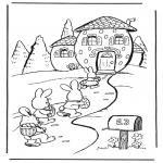 Tematy - Domek zajączka wielkanocnego