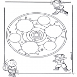 Mandala's - Dziecięca Mandala 24