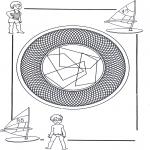 Mandala's - Dziecięca Mandala 25