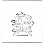 Przedszkolaki - dziecko na krzesełku