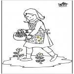 Przedszkolaki - Dziewczyna z kwiatami
