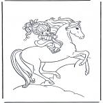 Zwierzęta - Dziewczynka na koniu