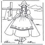 Różne - Dziewczynka przy wiatraku
