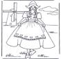 Dziewczynka przy wiatraku