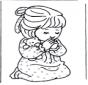 Dziewczynka się modli