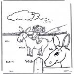 Zwierzęta - Dziewczynka z osiołkiem