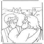 Kolorowanki Biblijne - Efata, Jezus uzdrawia