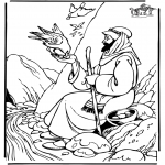 Kolorowanki Biblijne - Eliasz 1