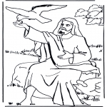 Kolorowanki Biblijne - Eliasz i kruk