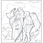 Kolorowanki Biblijne - Elżbieta i Eliasz