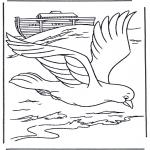 Kolorowanki Biblijne - Gołąb z Arki Noego
