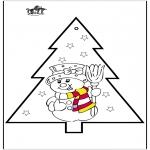 Boze Narodzenie - Haftowanie kartki - Bałwan 2