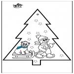 Boze Narodzenie - Haftowanie kartki - Bałwan 3