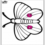 Zwierzęta - Haftowanie kartki - motyl