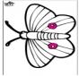 Haftowanie kartki - motyl