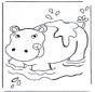 Hipopotam w wodzie