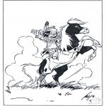 Zwierzęta - Indianin na koniu