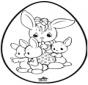 Jajko wielkanocne - Haftowanie kartki 1