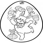 Tematy - Jajko wielkanocne - Haftowanie kartki 2
