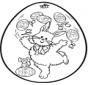 Jajko wielkanocne - Haftowanie kartki 2