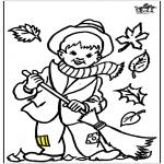 Różne - Jesienna kolorowanka 2