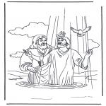 Kolorowanki Biblijne - Jezus i Jan  Chrzciciel 2