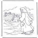 Kolorowanki Biblijne - Jezus przy wodzie